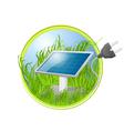 Solar green panel logo vector