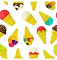 Seamless background with ice-cream vector