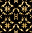 Golden floral pattern on black vector