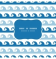 Abstract waves stripes frame seamless pattern vector