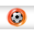 Football abstract circle on white orange vector