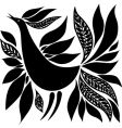 Bird silhouette folk ornament vector