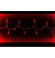 Colorful human heart normal sinus rhythm vector