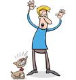Bad puppy cartoon vector