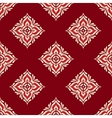 Red geometric seamless design vector