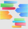 Collection of colorful bright infographics arrows vector