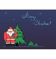 Christmas card with a picture of santa claus vector