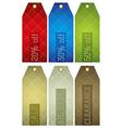 Vintage color labels with sale offer vector