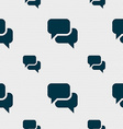 Speech bubble think cloud icon sign seamless vector