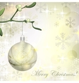 Grungy background with christmas ball hanging on vector
