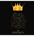 Abstract background with crown vector