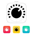 Music knob icon vector