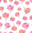 Seamless pattern with sweet flowers vector