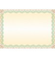Certificate green brown border landscape vector