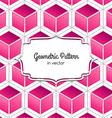 3d pink cube vector