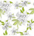 Narcissus floral wallpaper vector