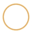 Round frame - gold chain on the white background vector