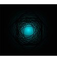 Dark blue circle background vector