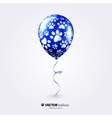 Party flying balloon with cat paws pattern vector