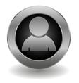 Metallic avatar button vector