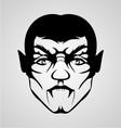 Vampire face vector