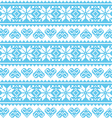 Winter christmas seamless pixelated blue pattern vector