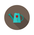 Watering pot flat icon vector