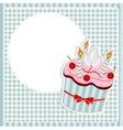 Birthday card with cake vector