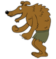 Happy werewolf vector