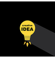 Idea bulb icon concept creative background vector