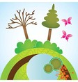 Earth planet and nature icons vector