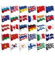 Graphic design flags vector