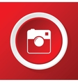 Square camera icon on red vector