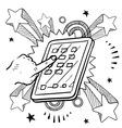 Doodle pop ipadish vector