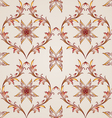 Seamless floral pattern in pastel shades vector