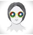 Women wear colorful shutter goggle vector