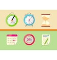 Time and date icons vector