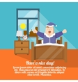 Waking up poster vector