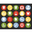 Flat style dental icons set vector