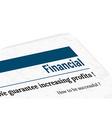 Newspaper - financial profit vector