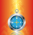 Compass with arrow background vector