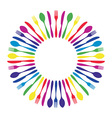Colorful cutlery background vector