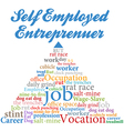 Self employed entrepreneur job occupation vector