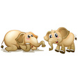 Two playful elephants vector