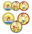 Triathlon mascot vector