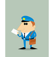 Cartoon postman vector