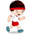 Boy jogging vector