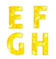 Diamond letters e f g h vector