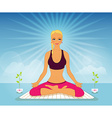 Beautiful woman doing yoga practice vector
