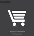 Shopping cart premium icon white on dark backgroun vector